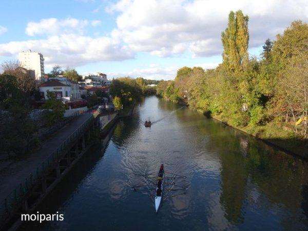 マルヌ川にかかる橋に到着