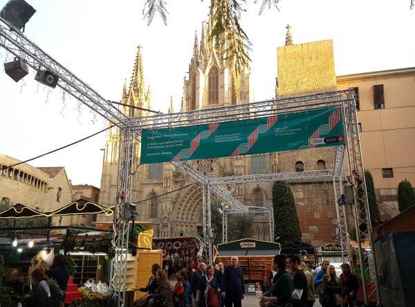 バルセロナのクリスマスマーケット