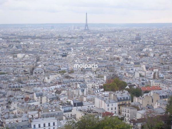 パリの街もエッフェル塔も見渡せる絶景ポイント