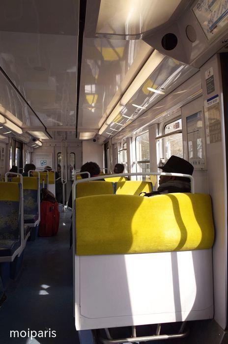RER・B線の車内の様子