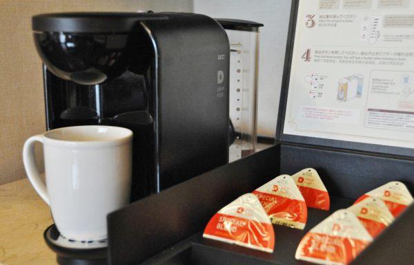 全客室にコーヒーマシン設置(写真提供:オクマ プライベートビーチ&リゾート)
