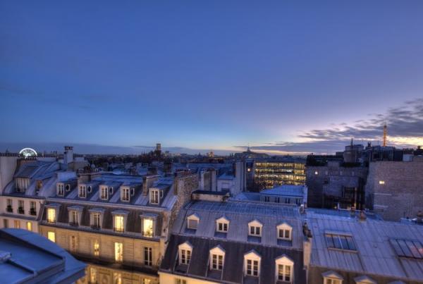ル・ブリストル・パリからの夕暮れ