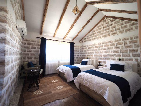 塩のホテル「ルナ サラダ」の客室(写真提供:グラージュ)