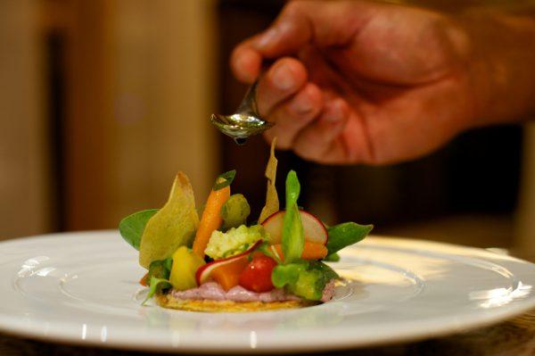 コレイユレストランのグルメな食事