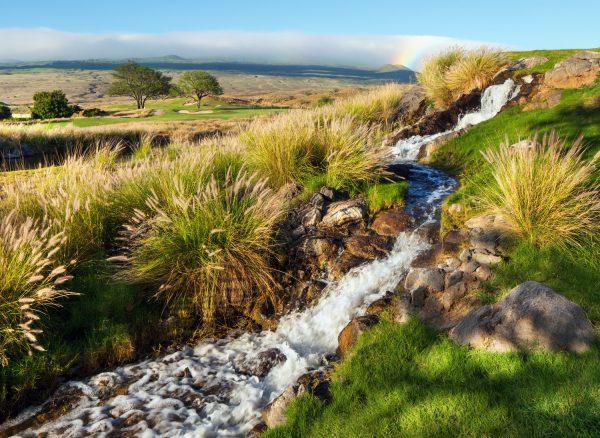 荒々し自然の地形を活かしたゴルフコース