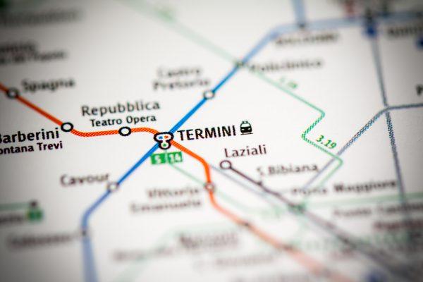 テルミニ駅はアクセス抜群