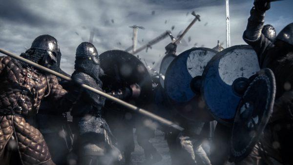 ヴァイキングからの攻撃にさらされるブルターニュ
