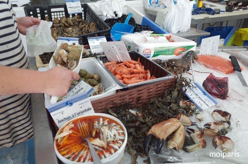フレッシュな魚介類もたくさん