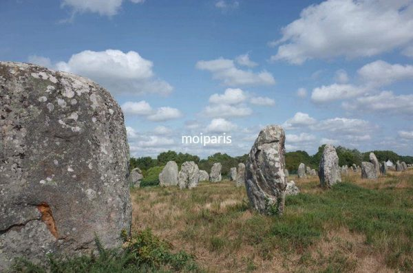 メンヒルと呼ばれる直立した巨石が一直線に並ぶカルナック遺跡