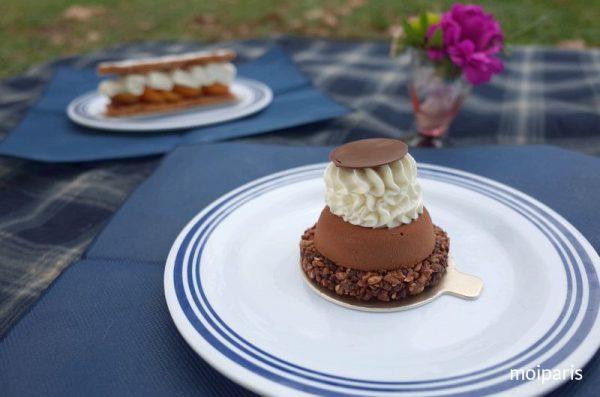 ルノートルのケーキをデザートに