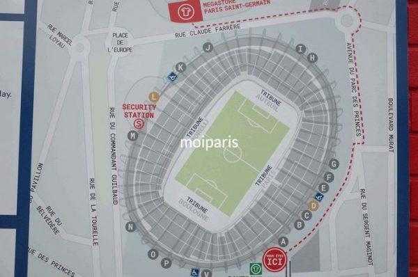 スタジアムの見取り図