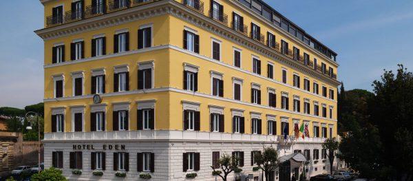 ローマ老舗5つ星ホテル・エデンの外観