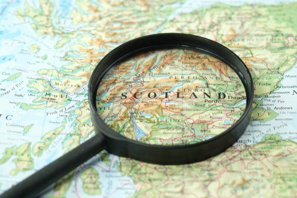 世界地図スコットランド