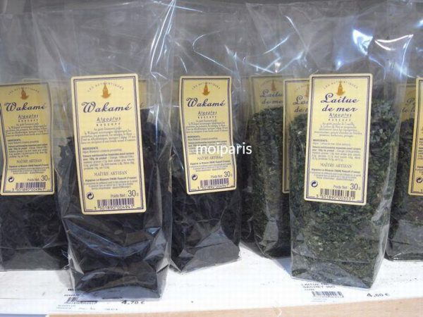 ブルターニュ産の海藻