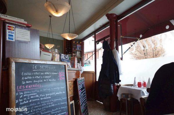 「ル・ベリゼール(Le Bélisaire)」は気取らないビストロのような雰囲気