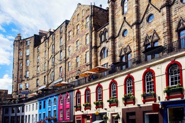 スコットランドのヴィクトリアストリート