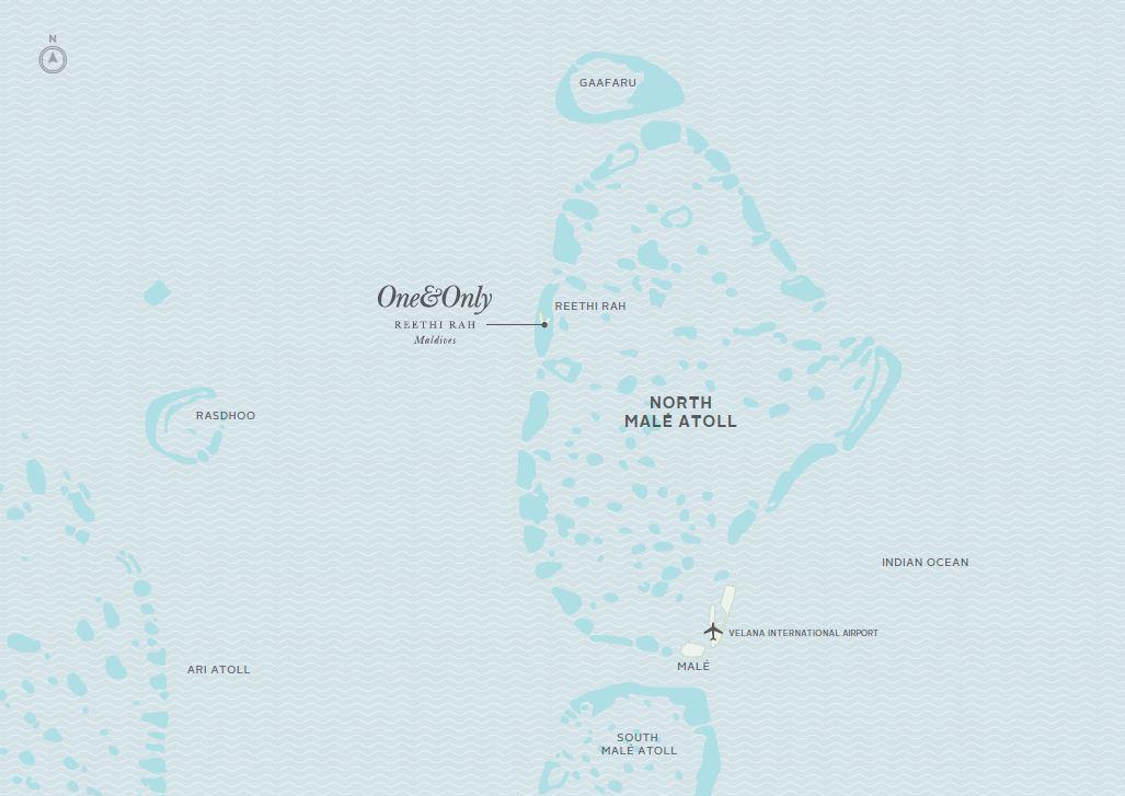 ワン&オンリー リーティラ モルディブの位置