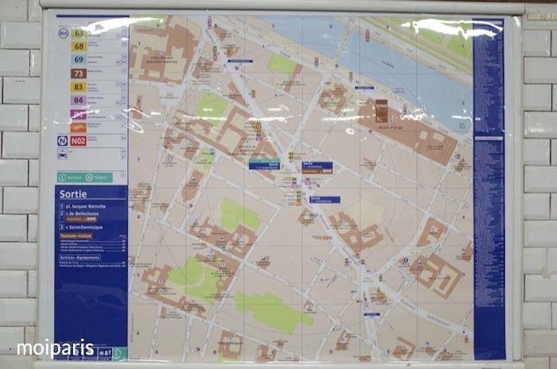 パリメトロ・カルティエ地図