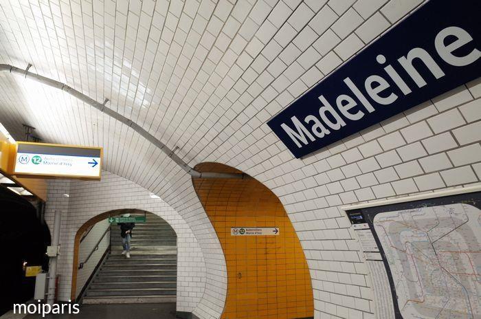 乗り換え「マドレーヌ」駅に到着