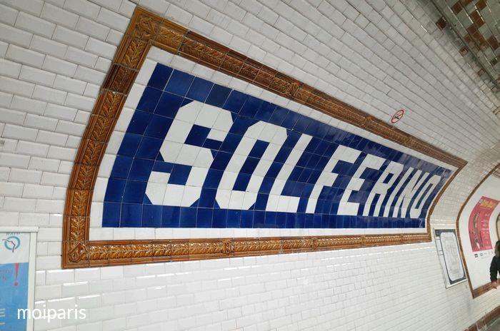 最終下車地「ソルフェリーノ(Solférino)」駅に到着