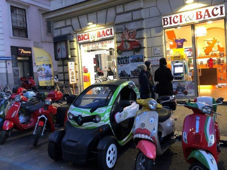 Bici&Baciでベスパを借りてローマの休日気分に