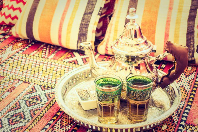 緑茶やミントティーをよく飲むモロッコ