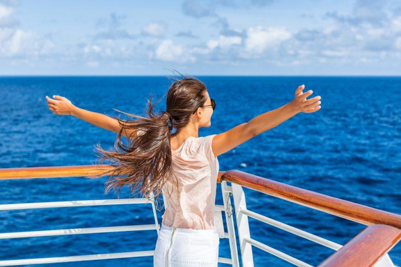 ずっとオーシャンビューを楽しめるのが船旅