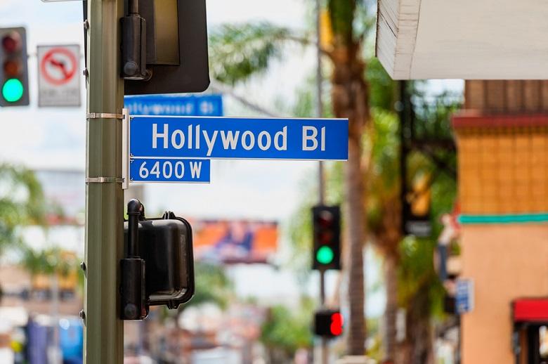 ハリウッドの街並み