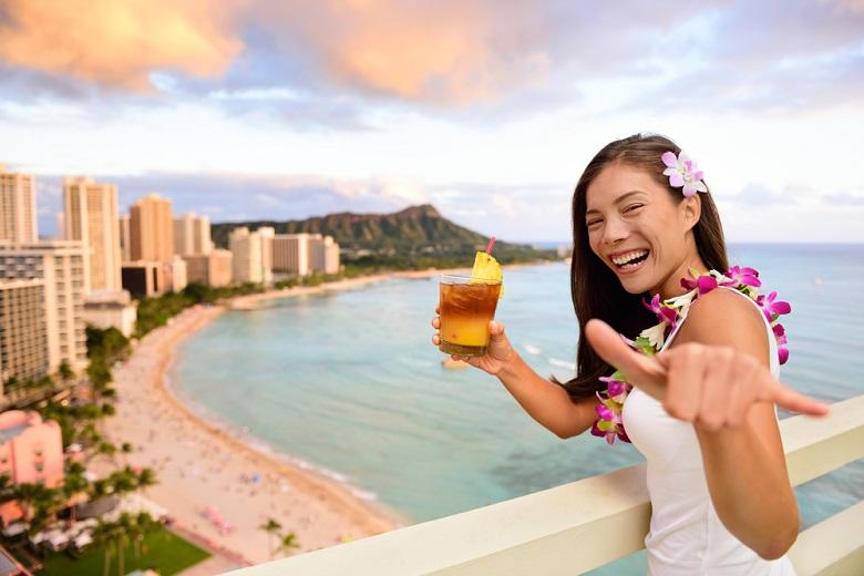 ハワイ経由でタヒチ新婚旅行