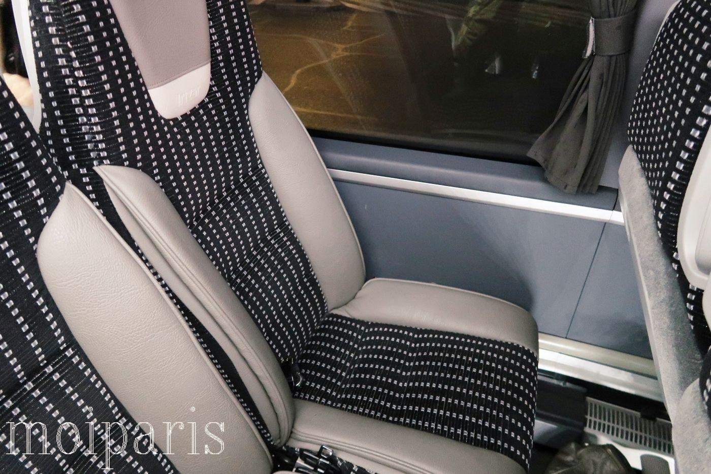 モンサンミッシェル旅行、バス、車内、シート周り。