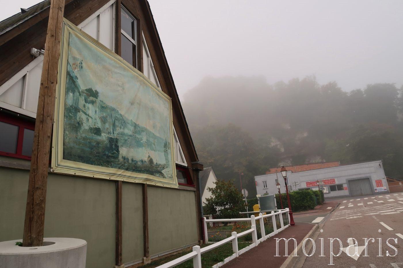 モンサンミッシェル旅行、天気、霧。