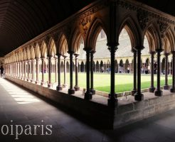 モンサンミッシェル、修道院内。