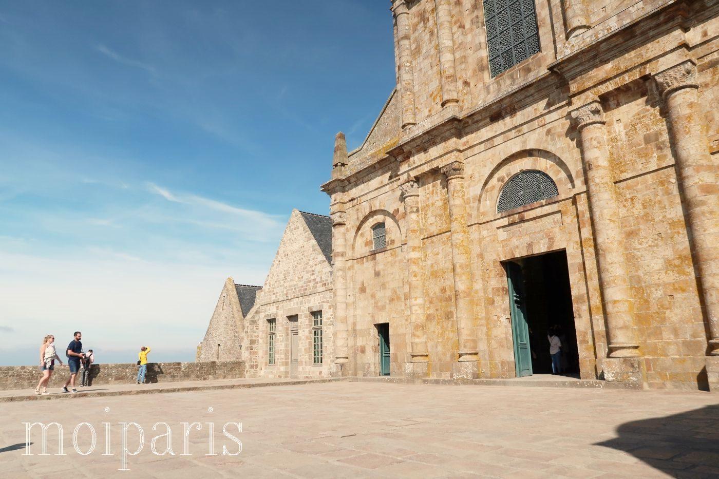 モンサンミッシェル、修道院、西のテラス。
