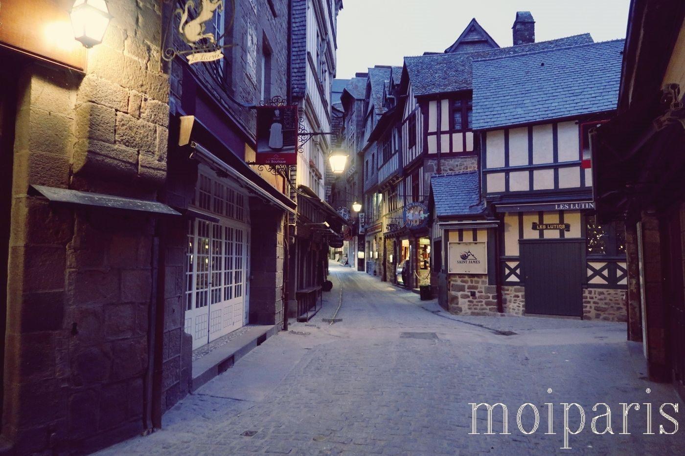 モンサンミッシェル、日の出、早起き、散策。