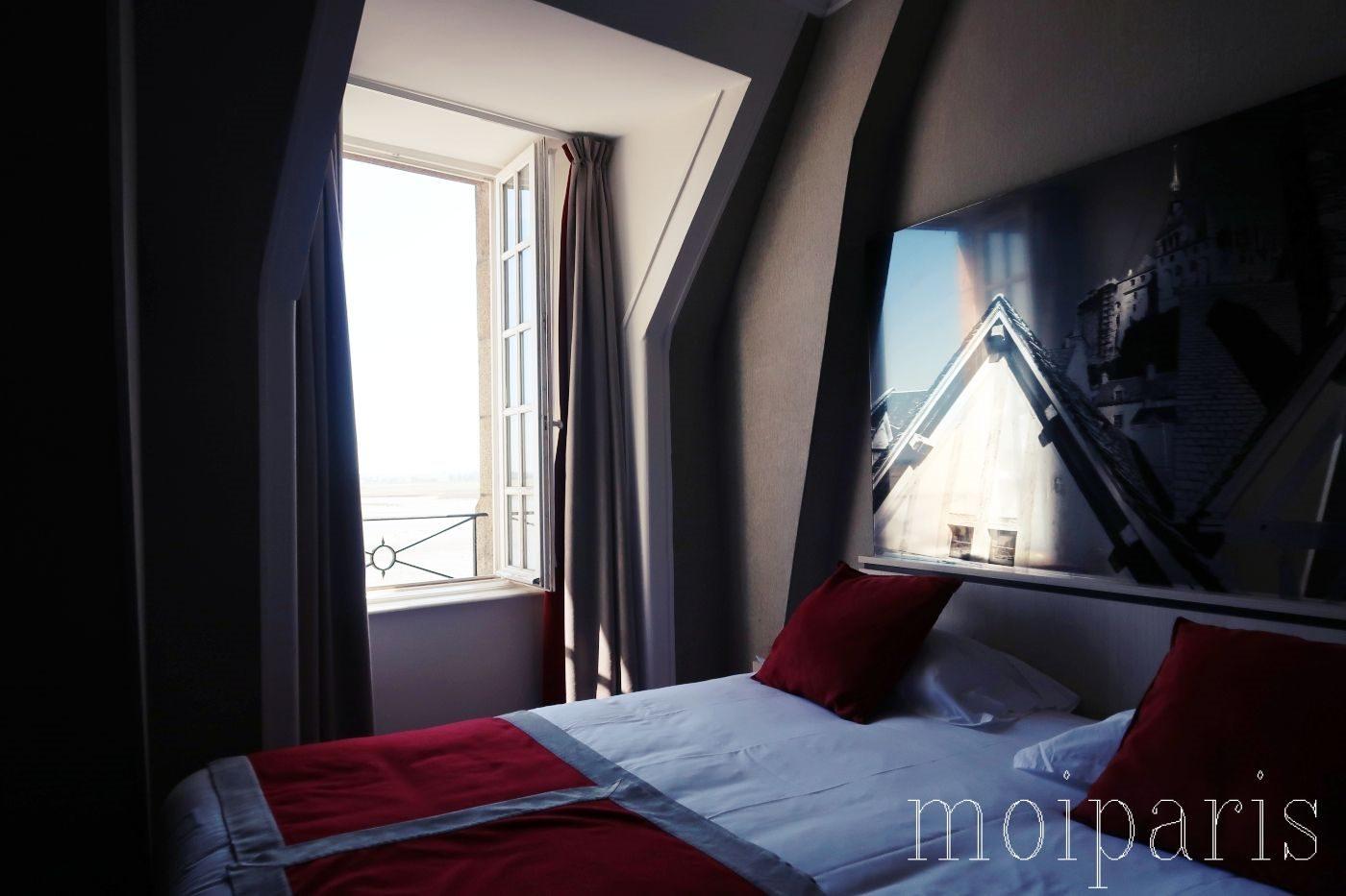 モンサンミッシェル、島内ホテル、室内の様子。