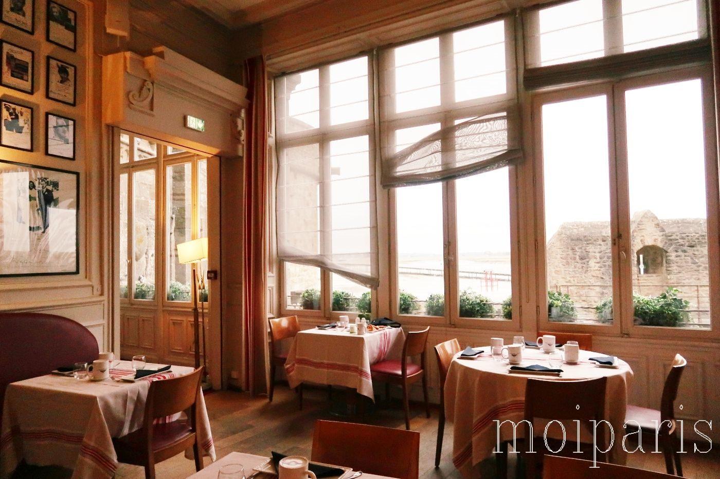 モンサンミッシェル、レストラン、有名店、オムレツ