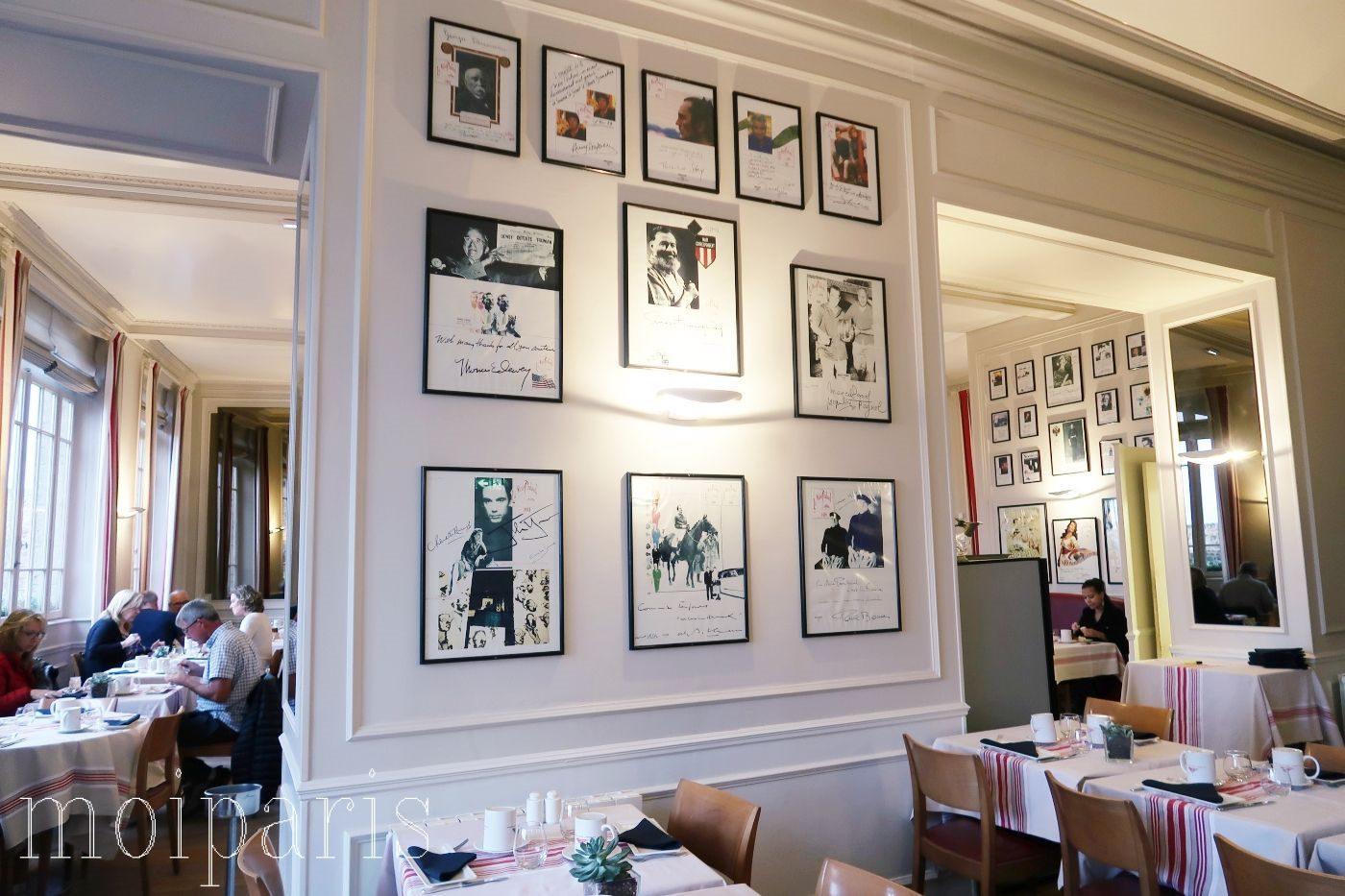 モンサンミッシェル、レストラン、有名店、オムレツ、内装