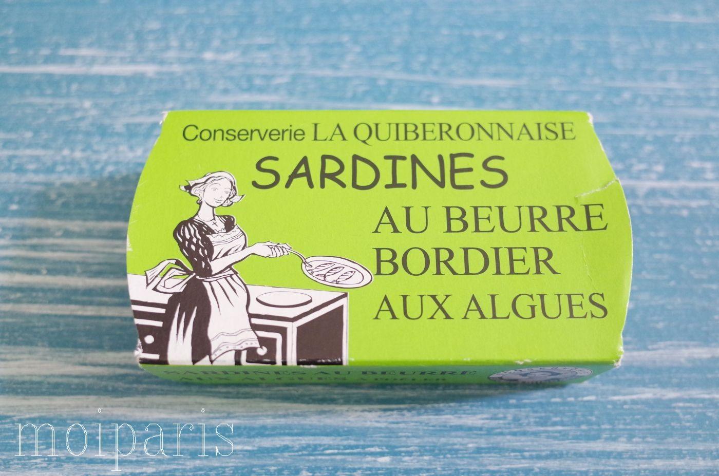 モンサンミッシェル、お土産、失敗したもの、海藻バターを使ったイワシの缶詰。