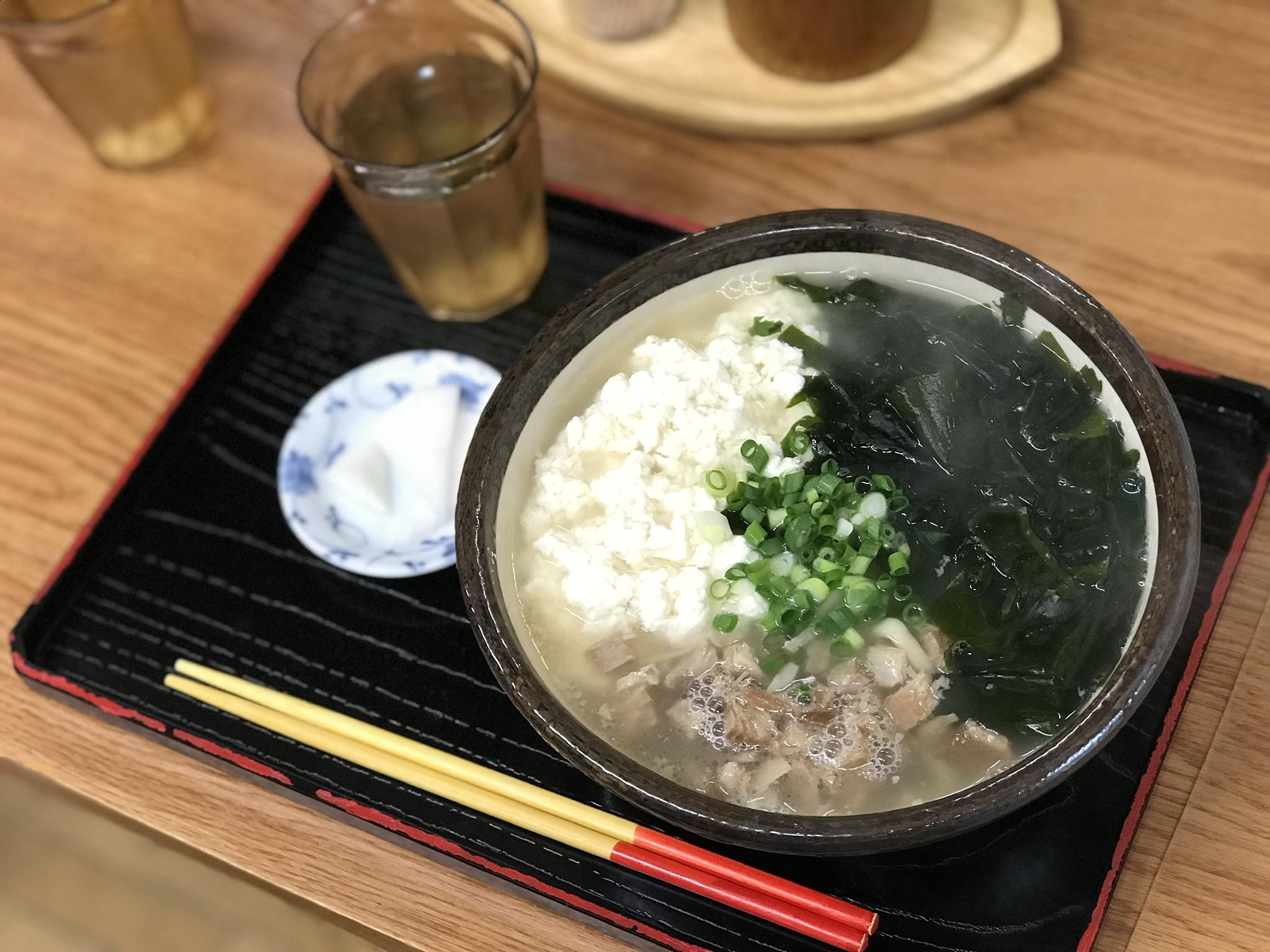 ハネムーン旅行、沖縄、ゆし豆腐そば、わかめそば、オススメ店。