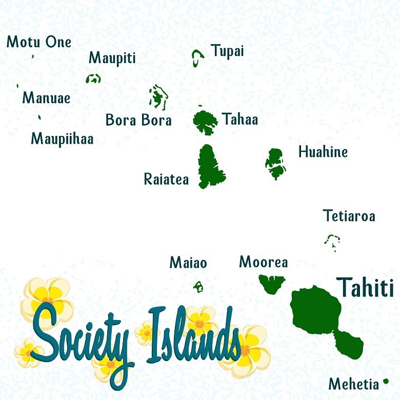 タヒチには魅力的な島々がたくさん