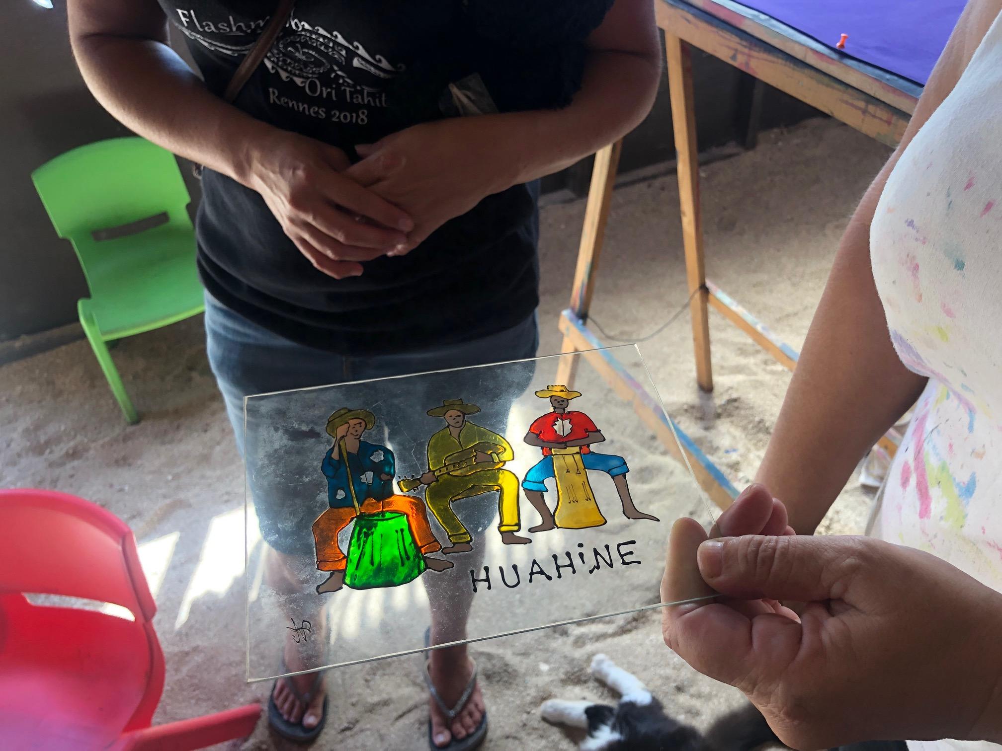 タヒチ、フアヒネ島、ガラスアート
