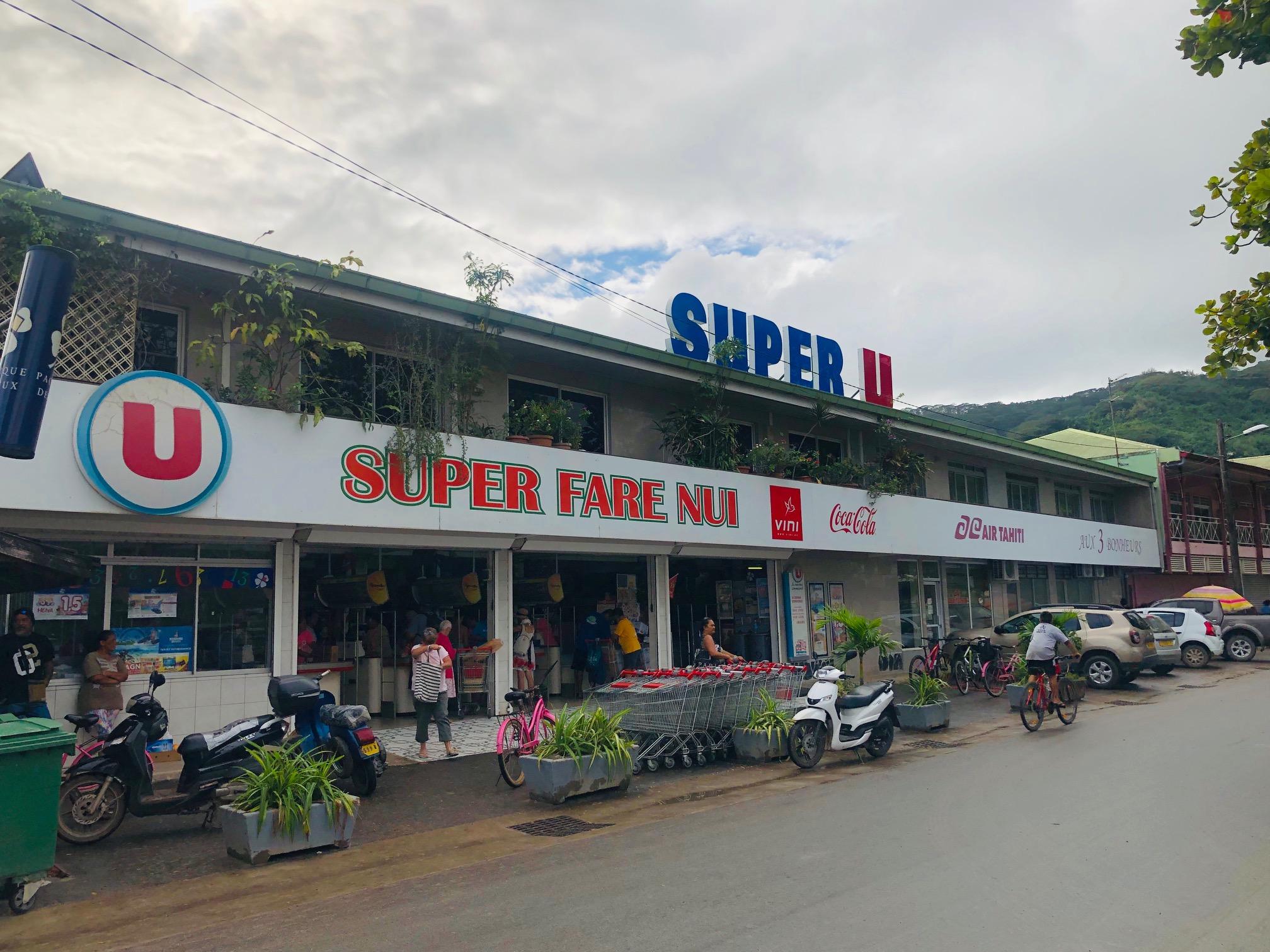 タヒチ、フアヒネ島、スーパー