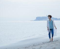 沖縄、海、寒い、12月