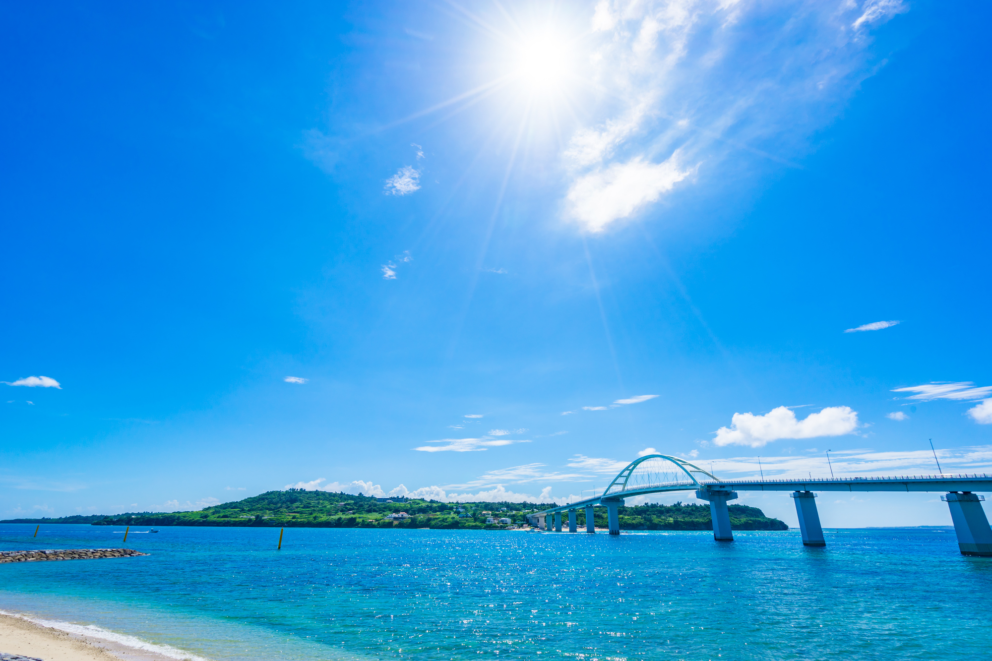 沖縄、景色、海