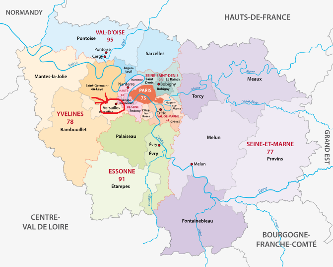 パリ南西20㎞のところにあるヴェルサイユ宮殿