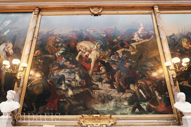 ドラクロワ作の「タイユブールの戦い」