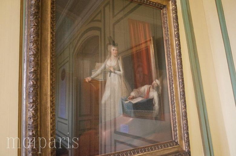 ジャン=ジャック・オエ(1751ー1829)の作品「マラーの死」