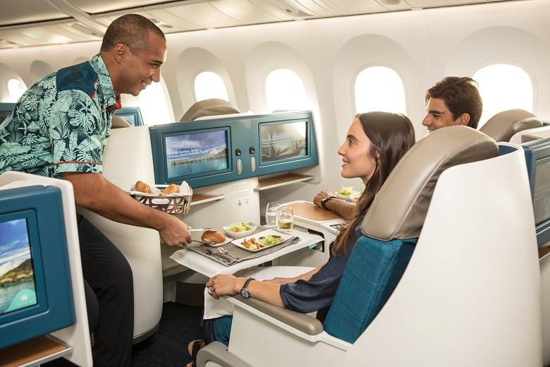 ビジネスクラスの機内サービス