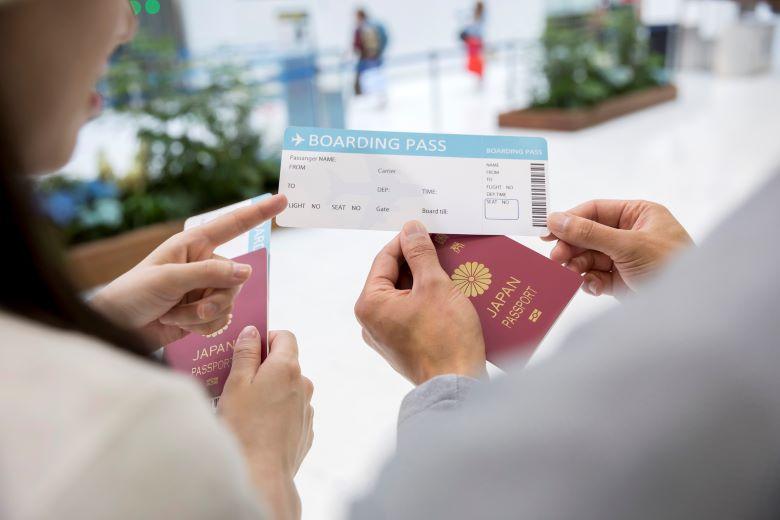 搭乗券を確認