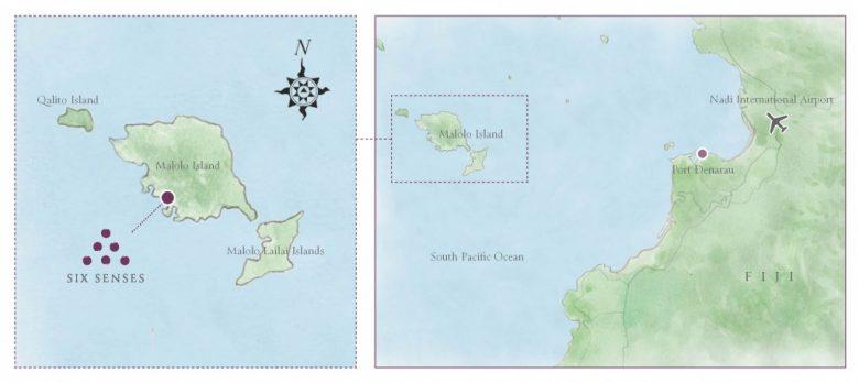 シックスセンシズフィジーのロケーションマップ